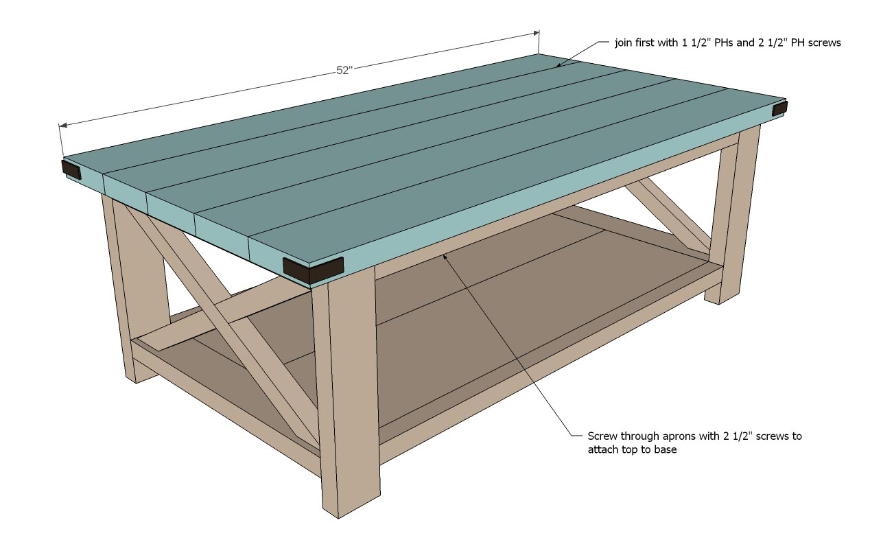 Coffee table plans are a real help for creating boards Homemade coffee table plans