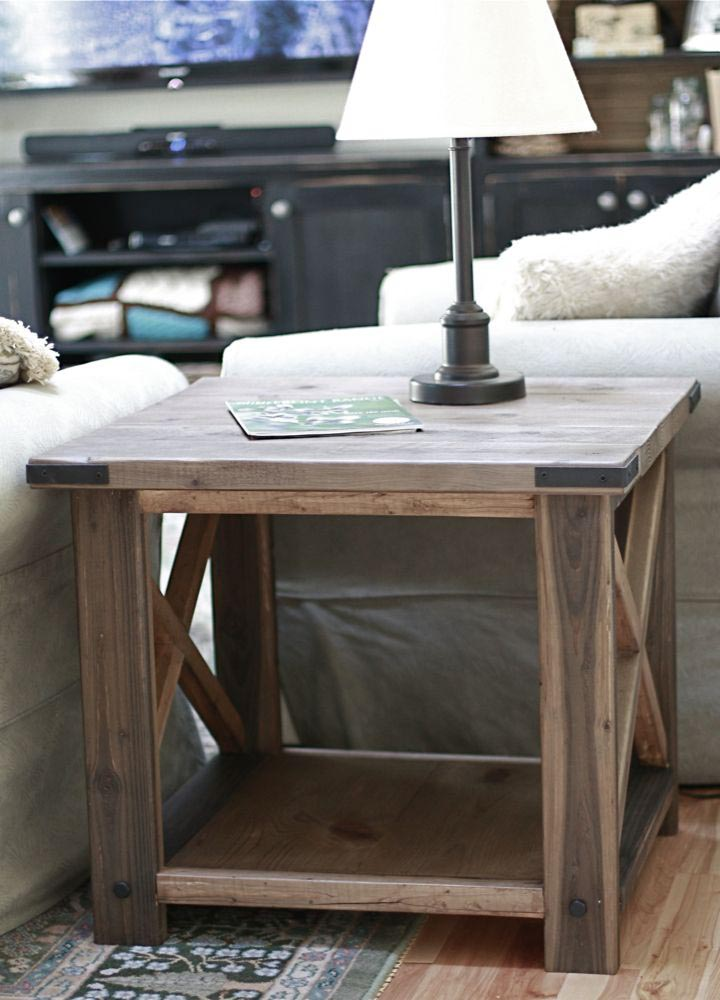 Ana White Rustic X End Table Coffee Design Ideas