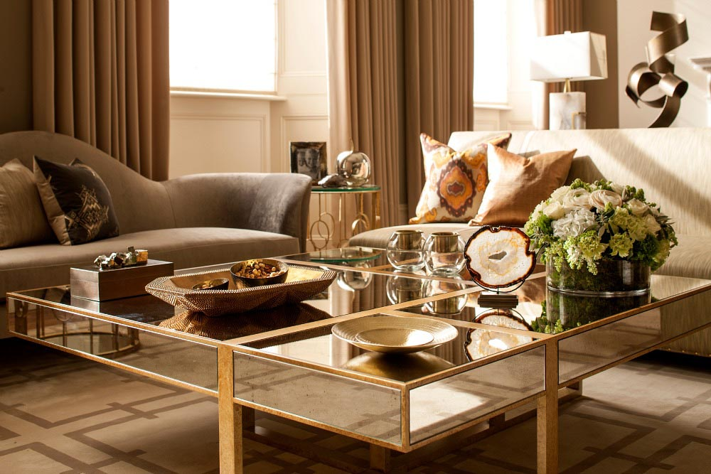 Gold Living Room Table