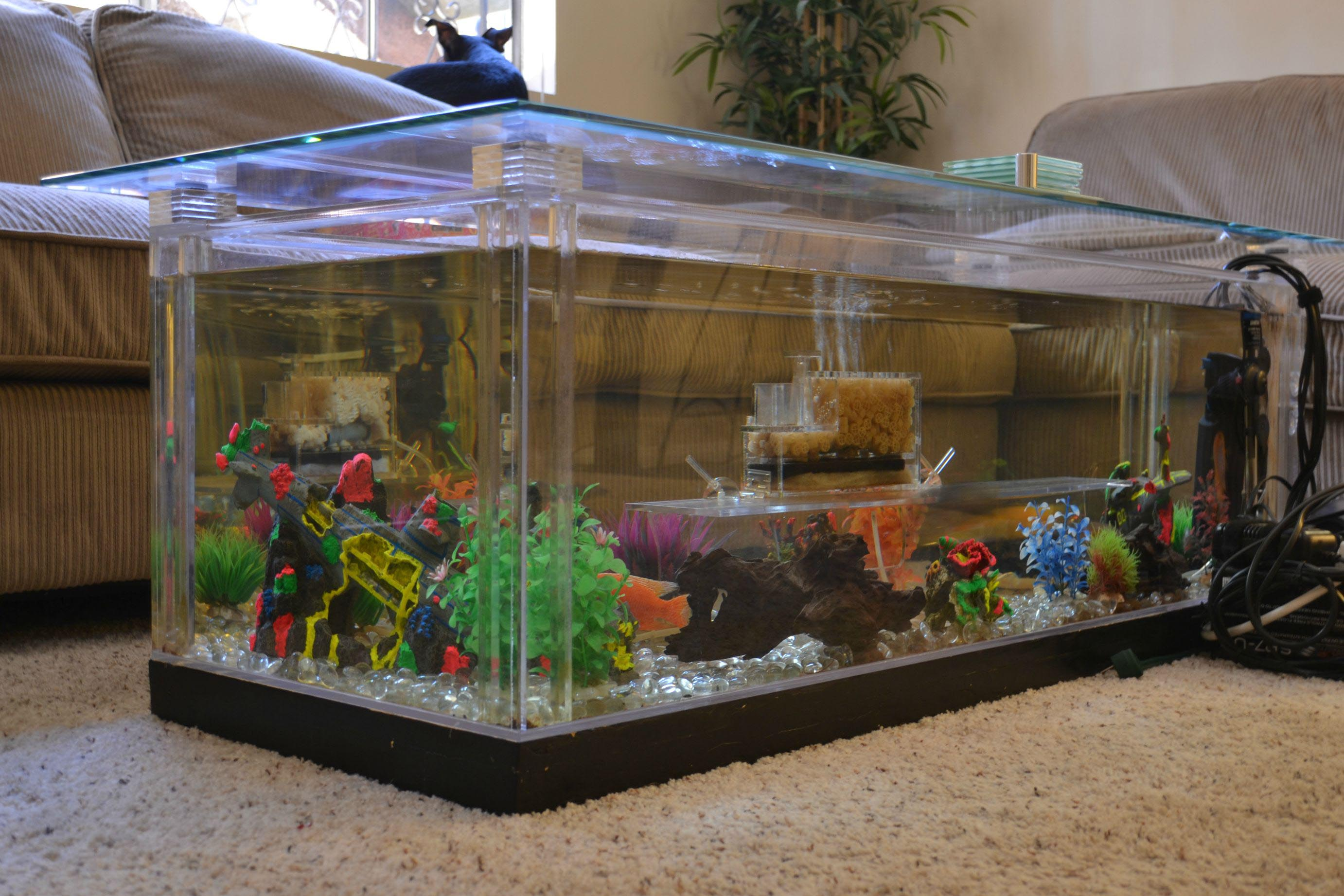 Aquarium coffee table diy coffee table design ideas - Aquarium coffee table diy ...