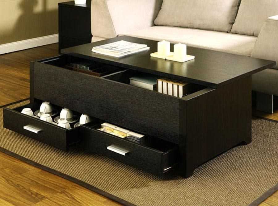 Black Storage Coffee Table