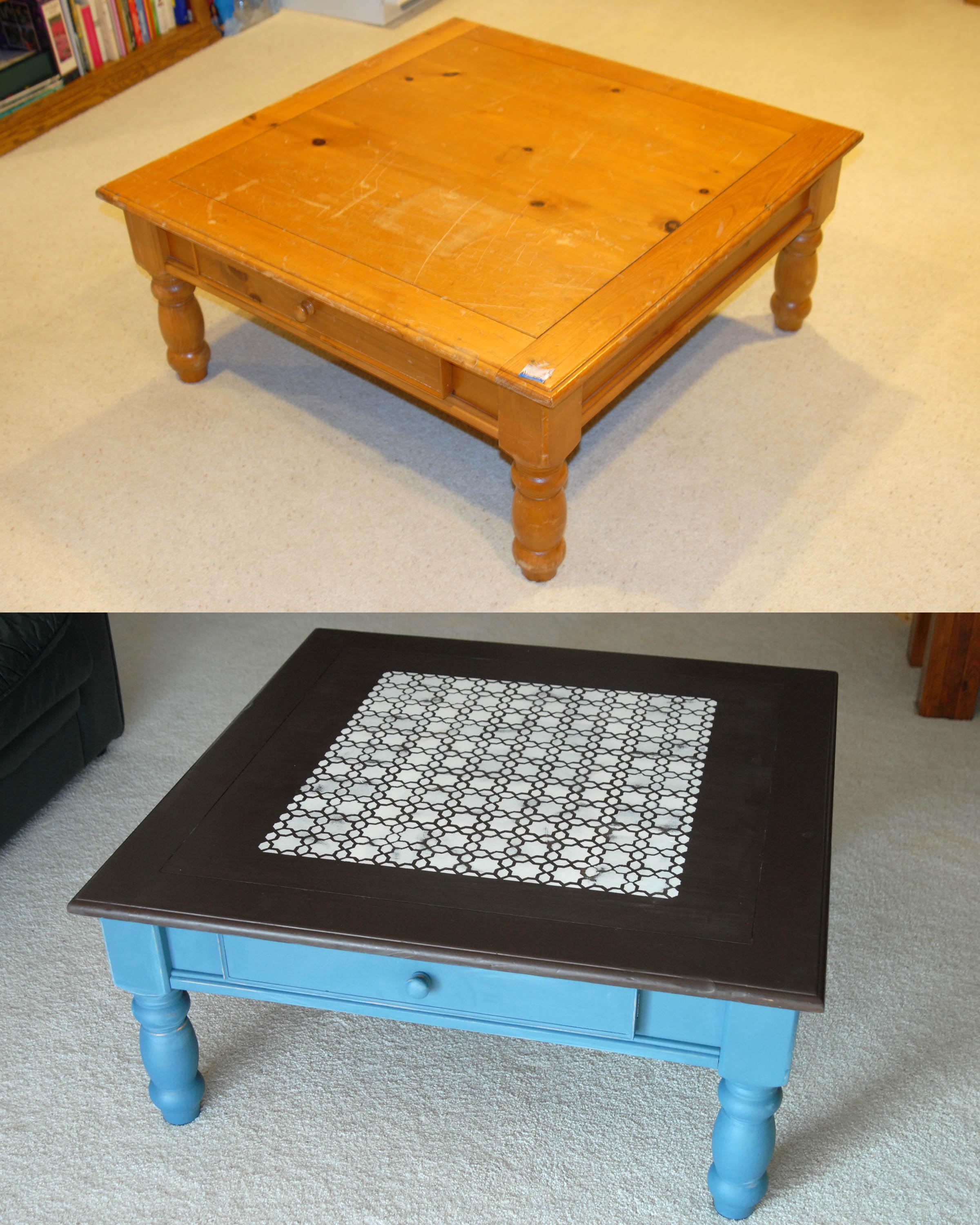 Painted coffee table is like modern fashion coffee table for Coffee tables painted