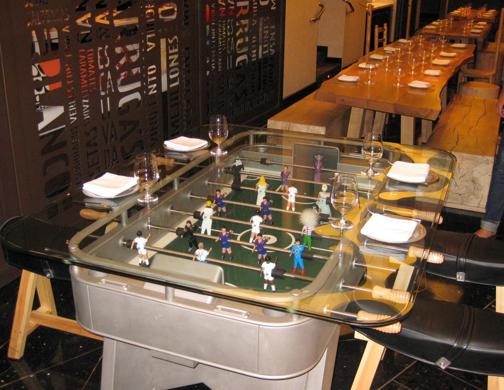 Foosball Dining Table Furniture Offside
