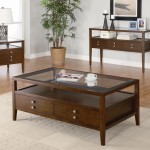 Coffee Table Sets with Drawers