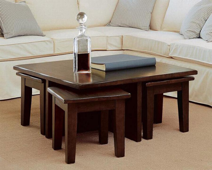 Coffee Table With 4 Stools Coffee Table Design Ideas