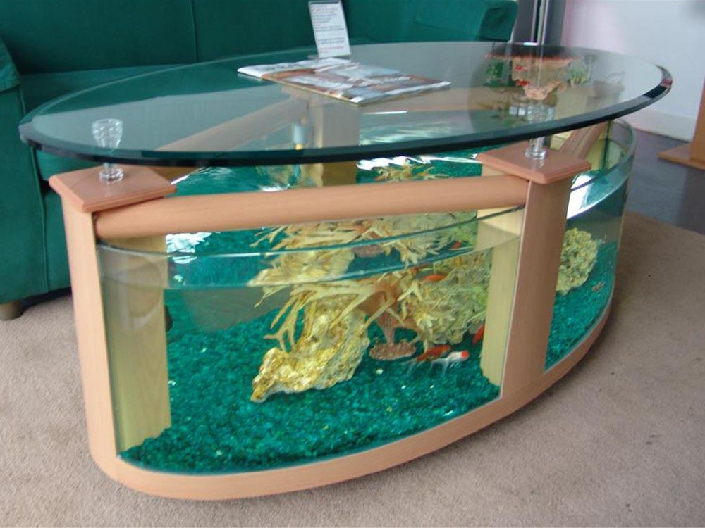 Coffee Table with Aquarium