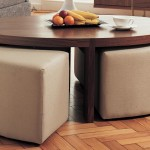 Coffee Table with Ottoman Seating Underneath
