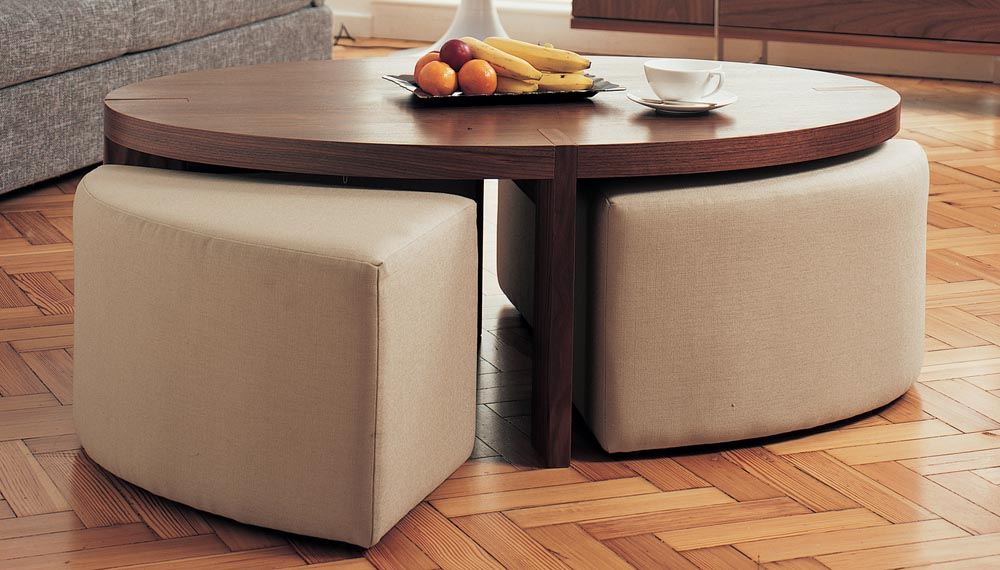 Coffee Table With Ottoman Seating Underneath Coffee Table Design Ideas