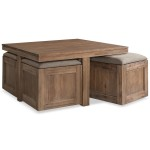 Coffee Table with Seating Cubes