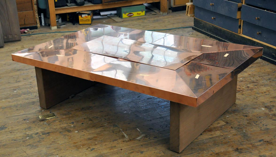 Copper And Wood Coffee Table Design Ideas