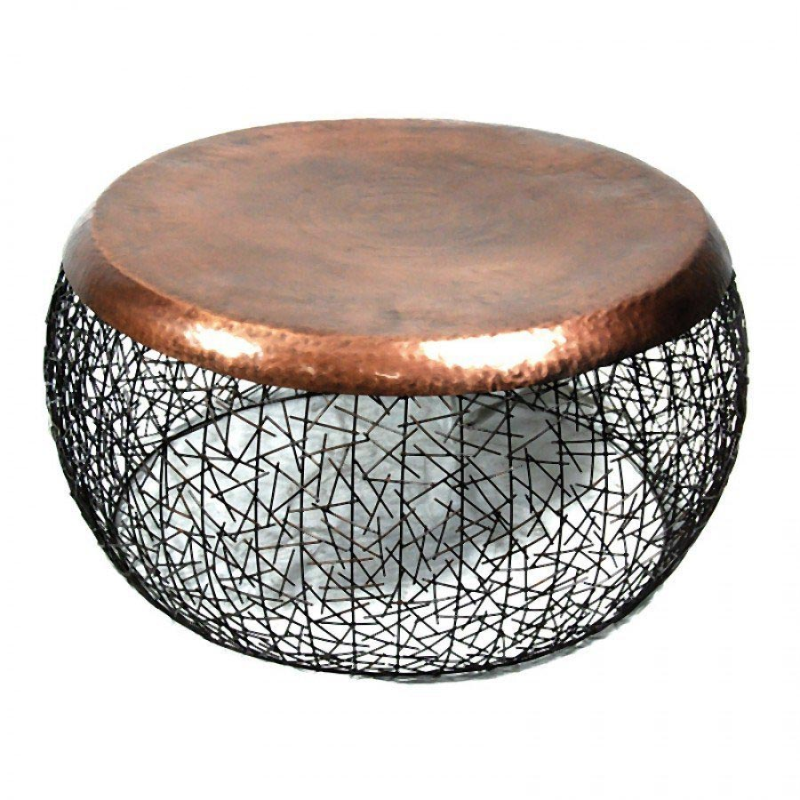 Copper Drum Coffee Table Design Ideas