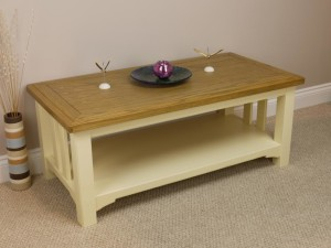 Cream Painted Coffee Table