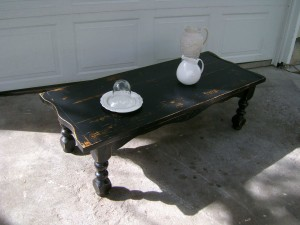 ... Distressed Black Coffee Table ...