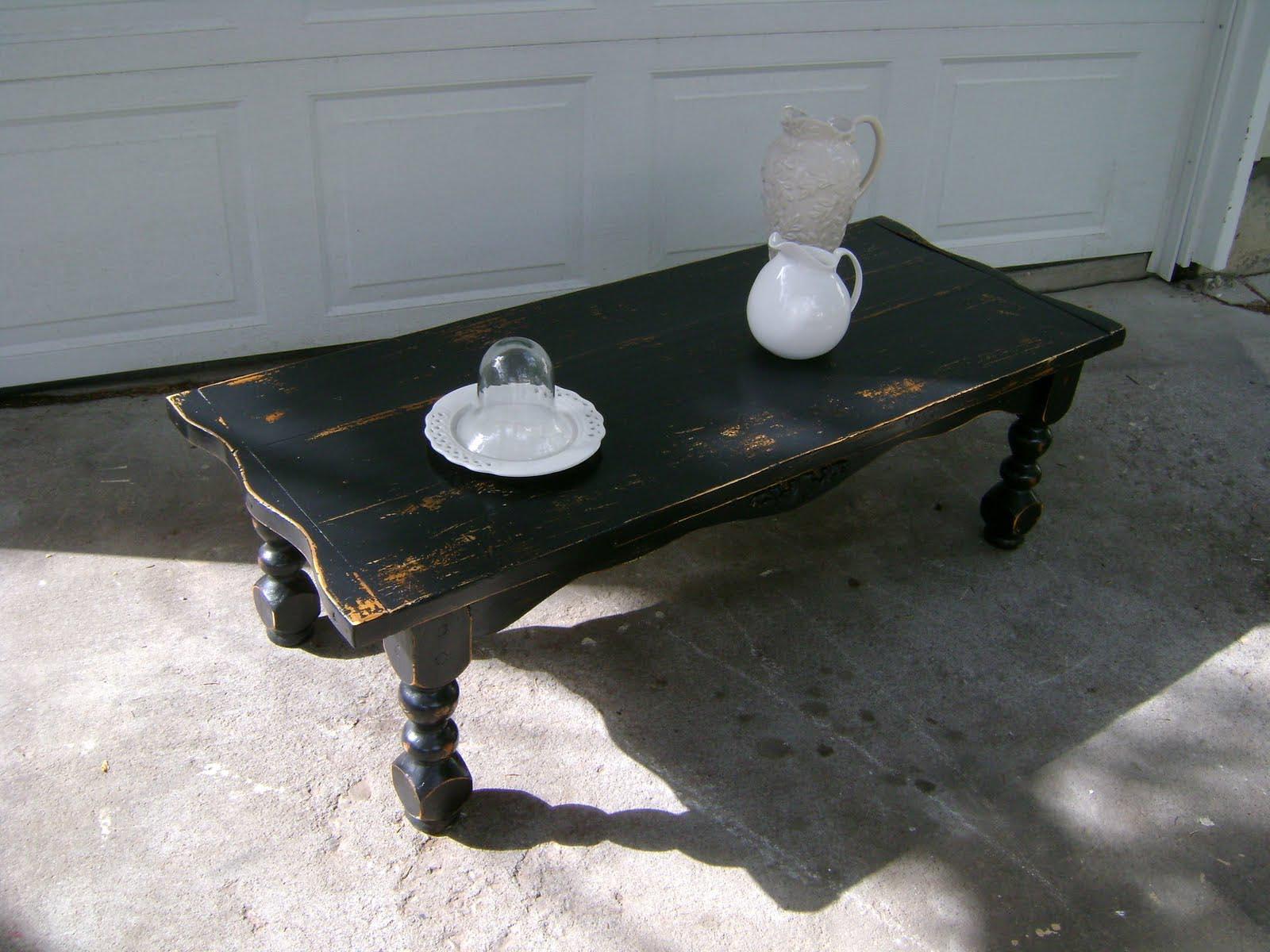 Distressed Black Coffee Table Coffee Table Design Ideas