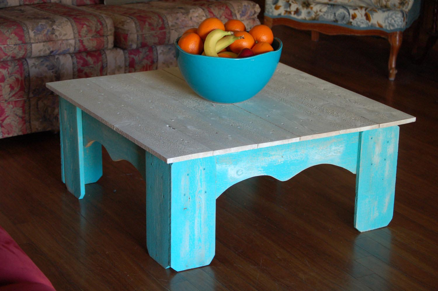 Distressed Blue Coffee Table Coffee Table Design Ideas