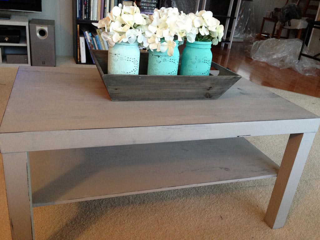 Distressed coffee table diy -  Distressed Coffee Table Diy