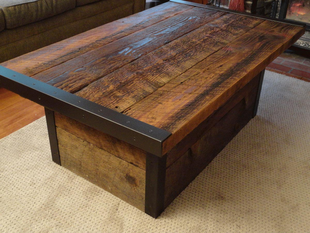 Distressed coffee table diy -  Distressed Cream Coffee Table