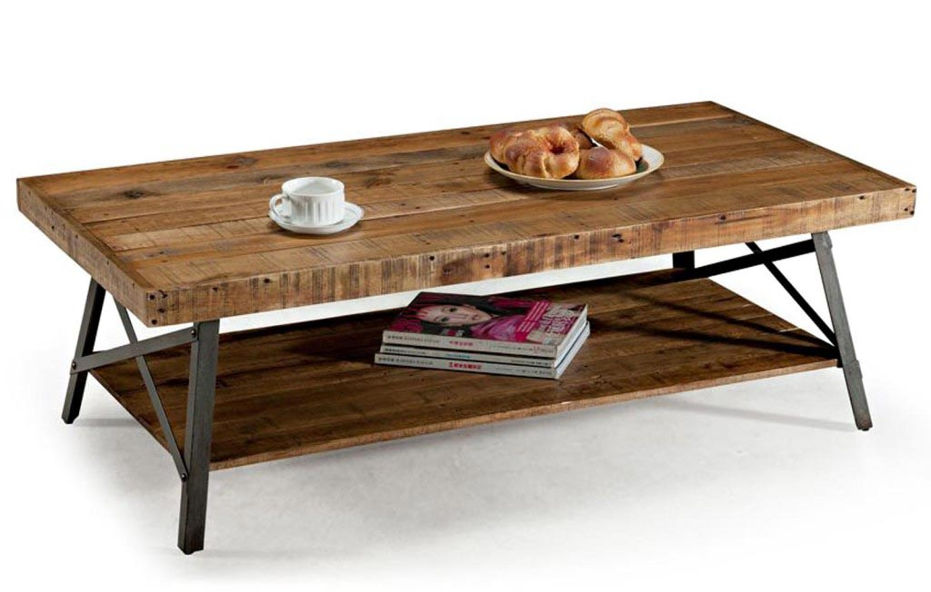 Distressed Metal Coffee Table