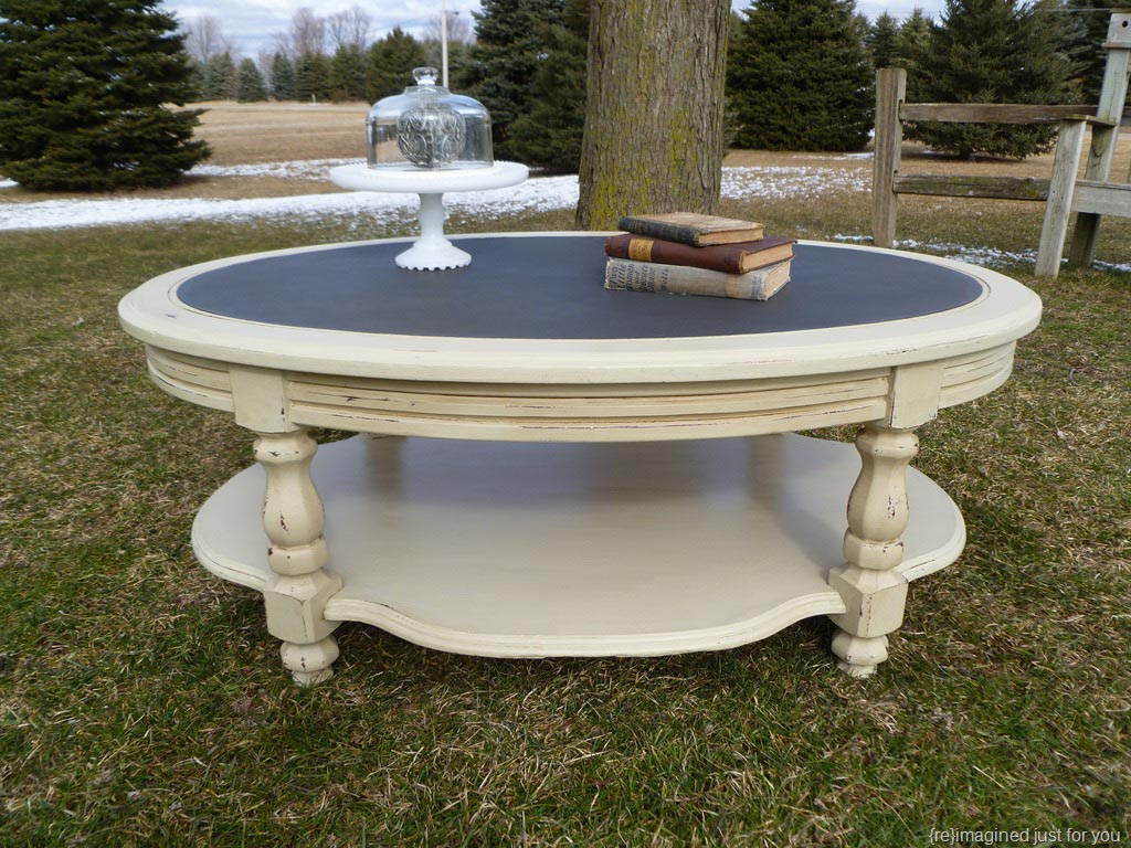 Distressed Painted Coffee Table Design Ideas