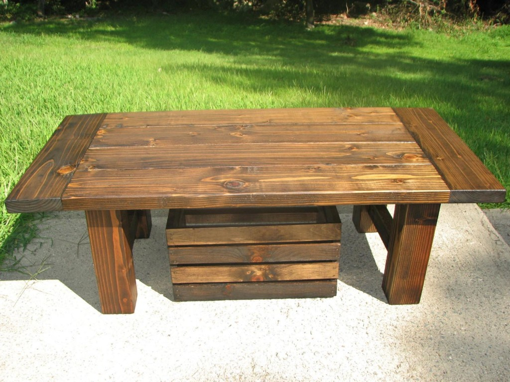 Distressed Pine Coffee Table