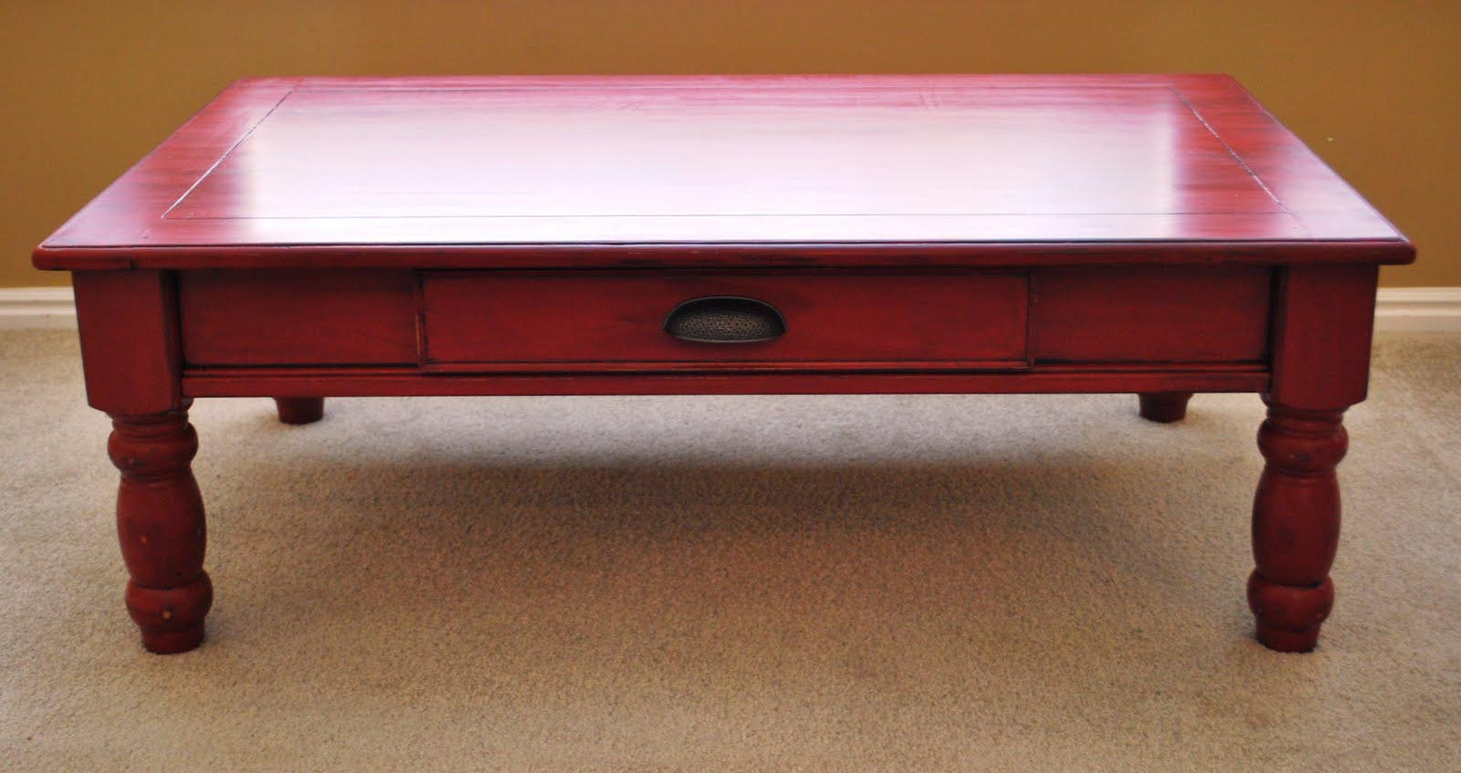 Distressed Red Coffee Table Coffee Table Design Ideas