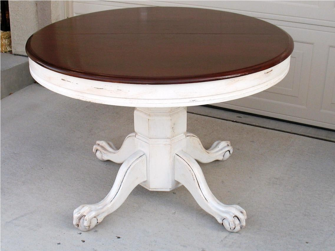 Distressed round coffee table coffee table design ideas for Distressed white round coffee table