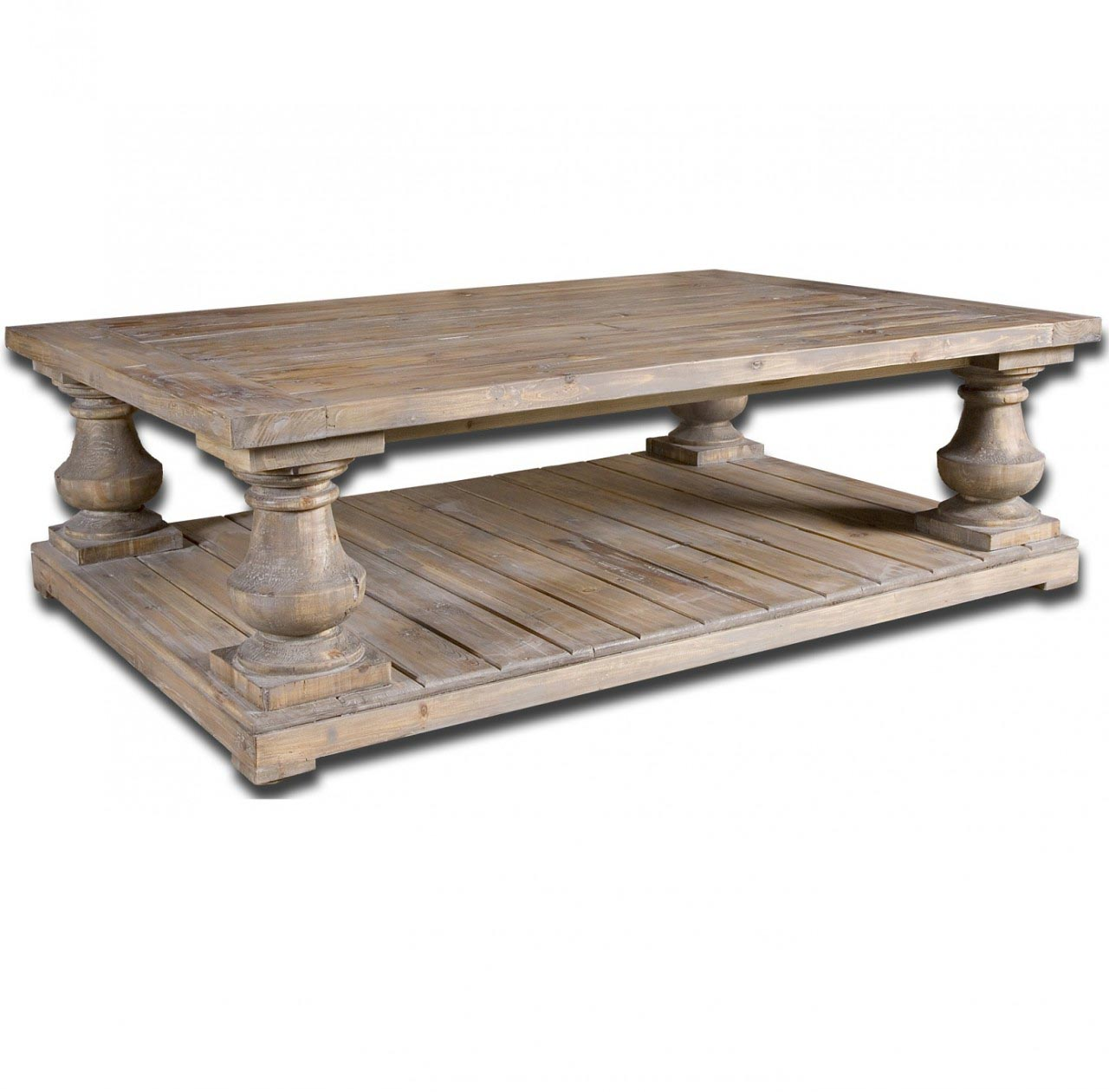 Distressed Wood Coffee Table Design Ideas