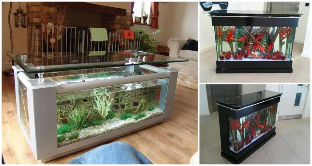 DIY Coffee Table Aquarium