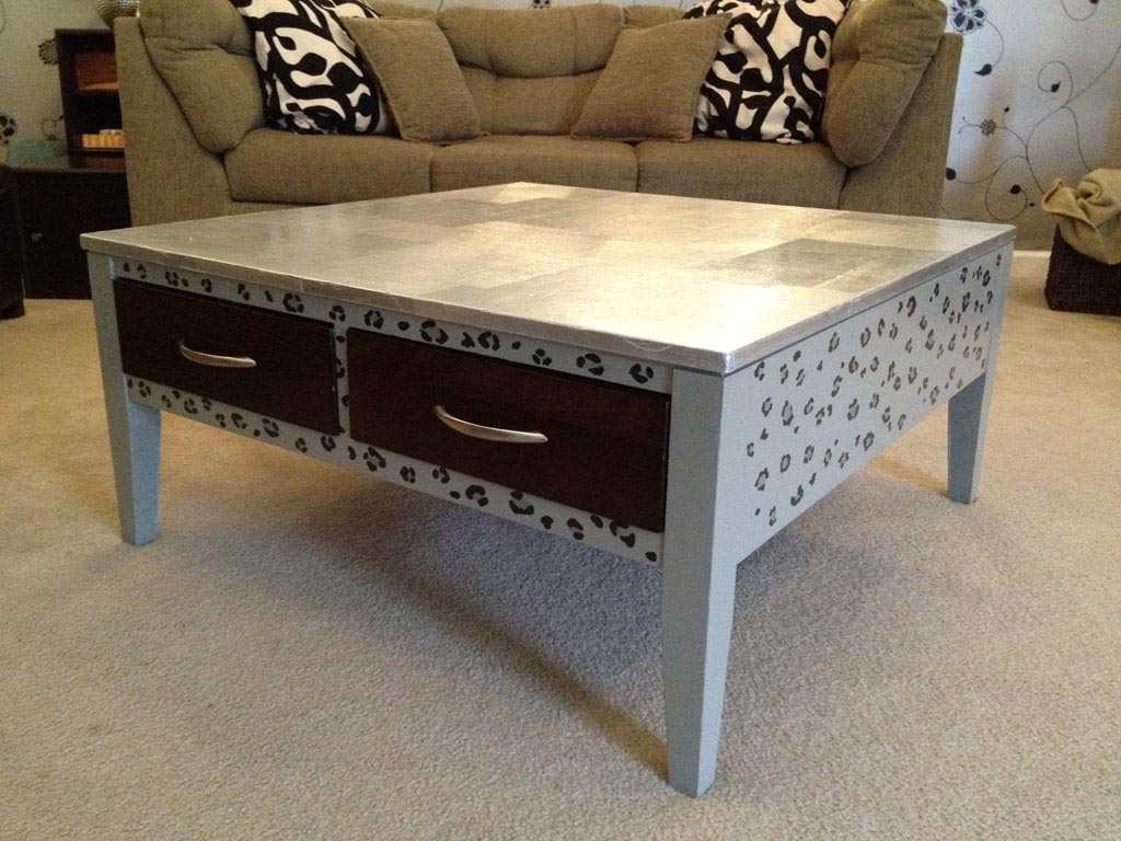 Painted coffee table is like modern fashion coffee table for Painted coffee table ideas