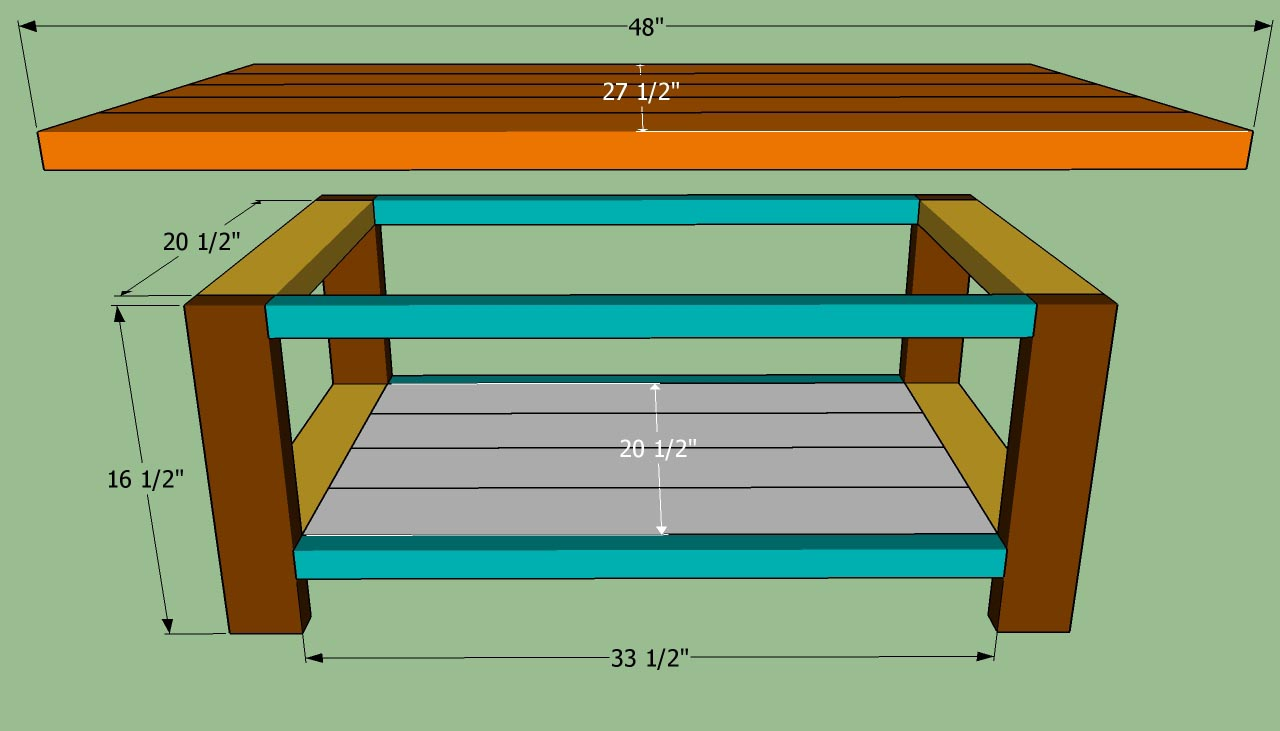Easy coffee table plans coffee table design ideas Homemade coffee table plans
