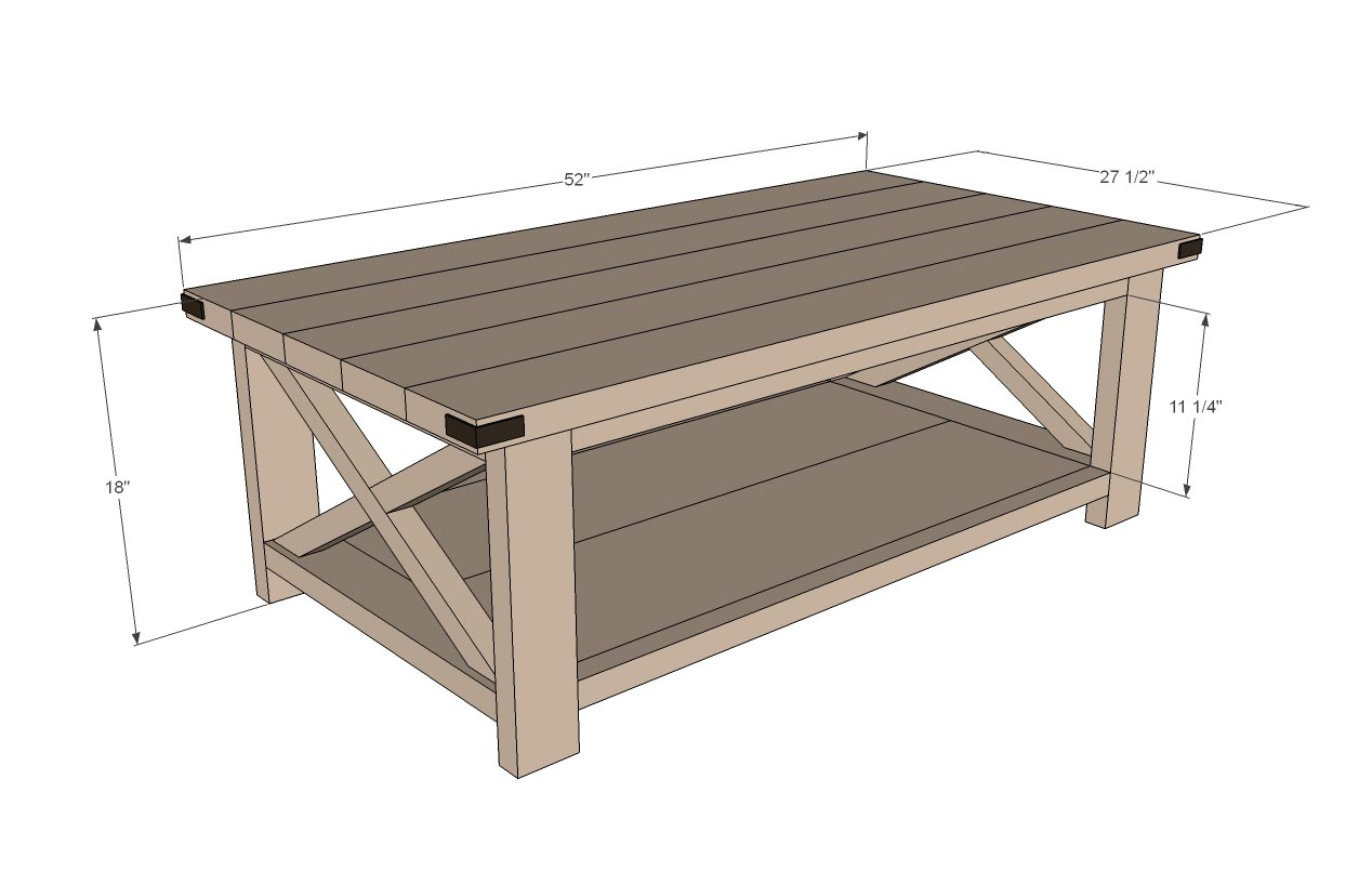 Free coffee table plans coffee table design ideas for Diy coffee and end tables