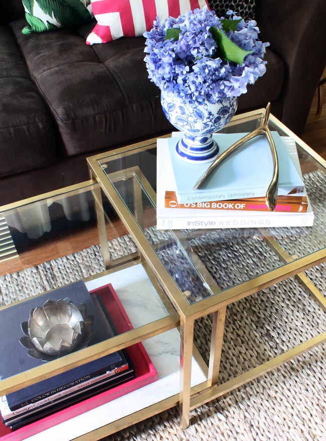 Gold Painted Coffee Table