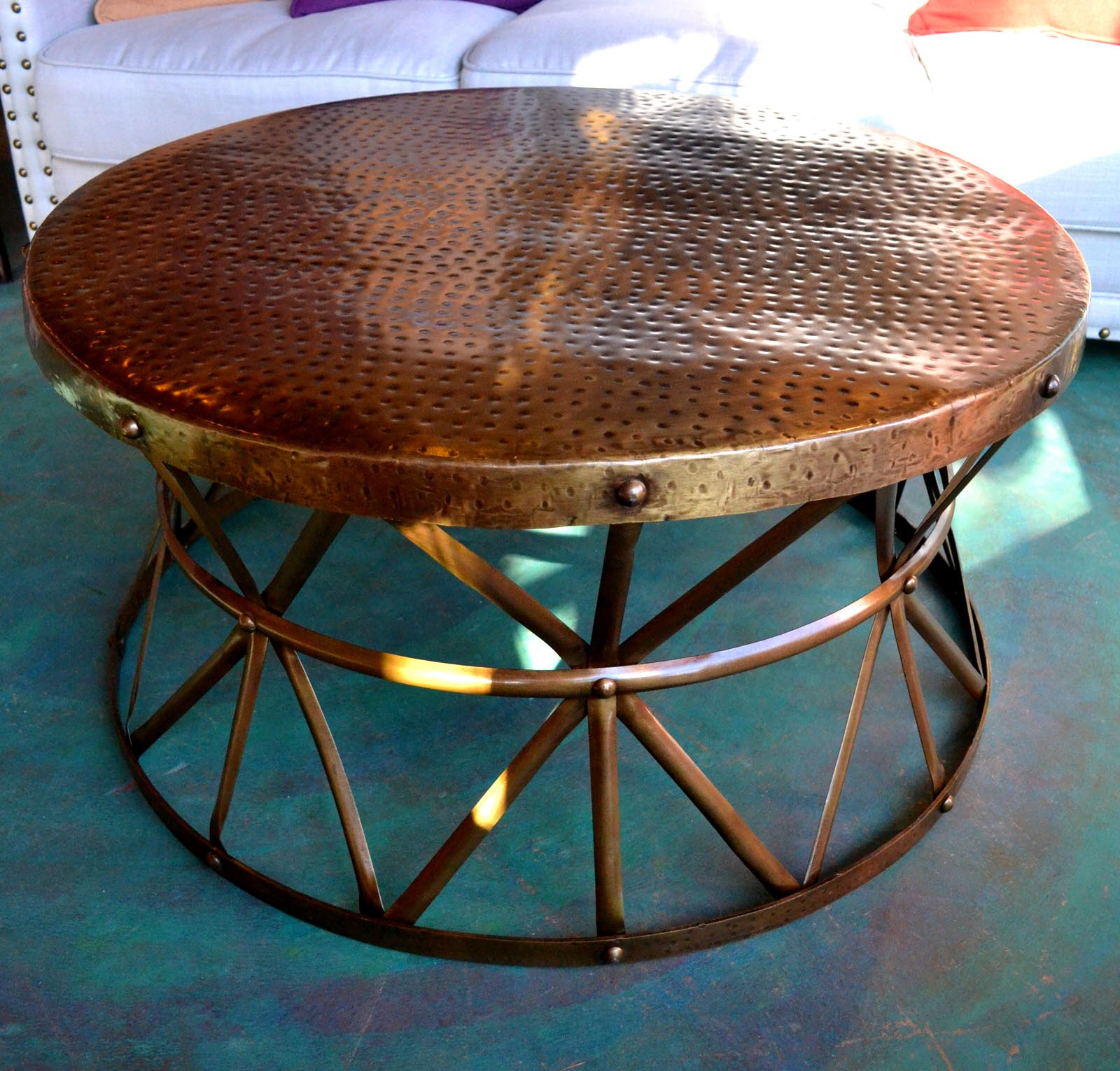 Hammered Copper Coffee Table Coffee Table Design Ideas