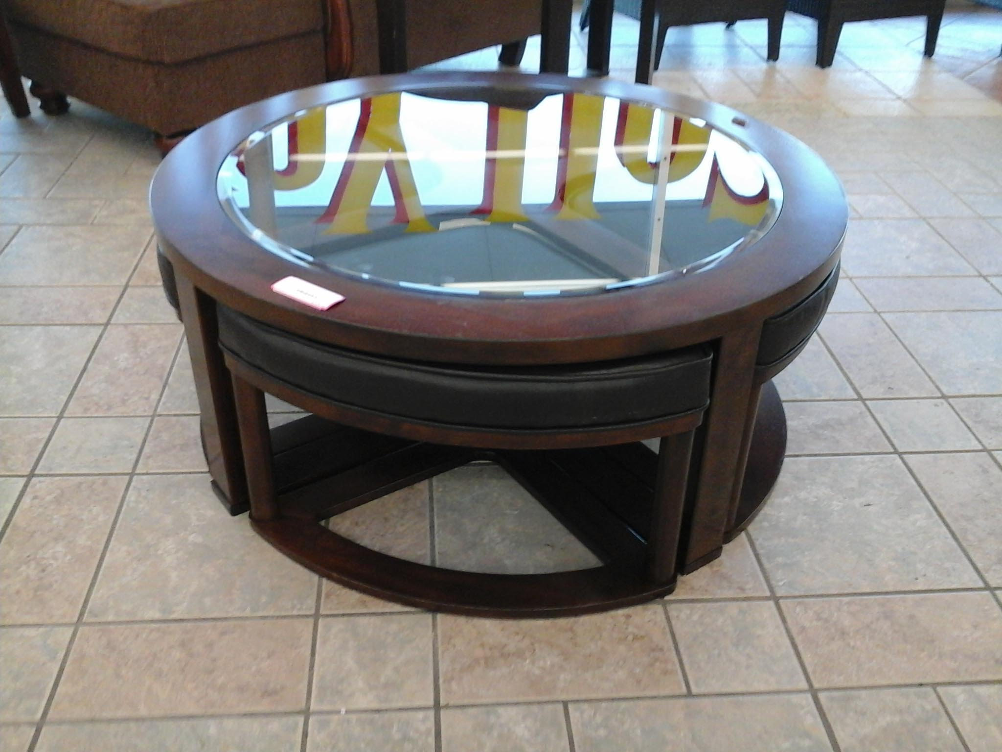 Marion Coffee Table with Stools