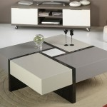 Modern Coffee Table with Drawers