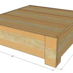 Outdoor Coffee Table Plans
