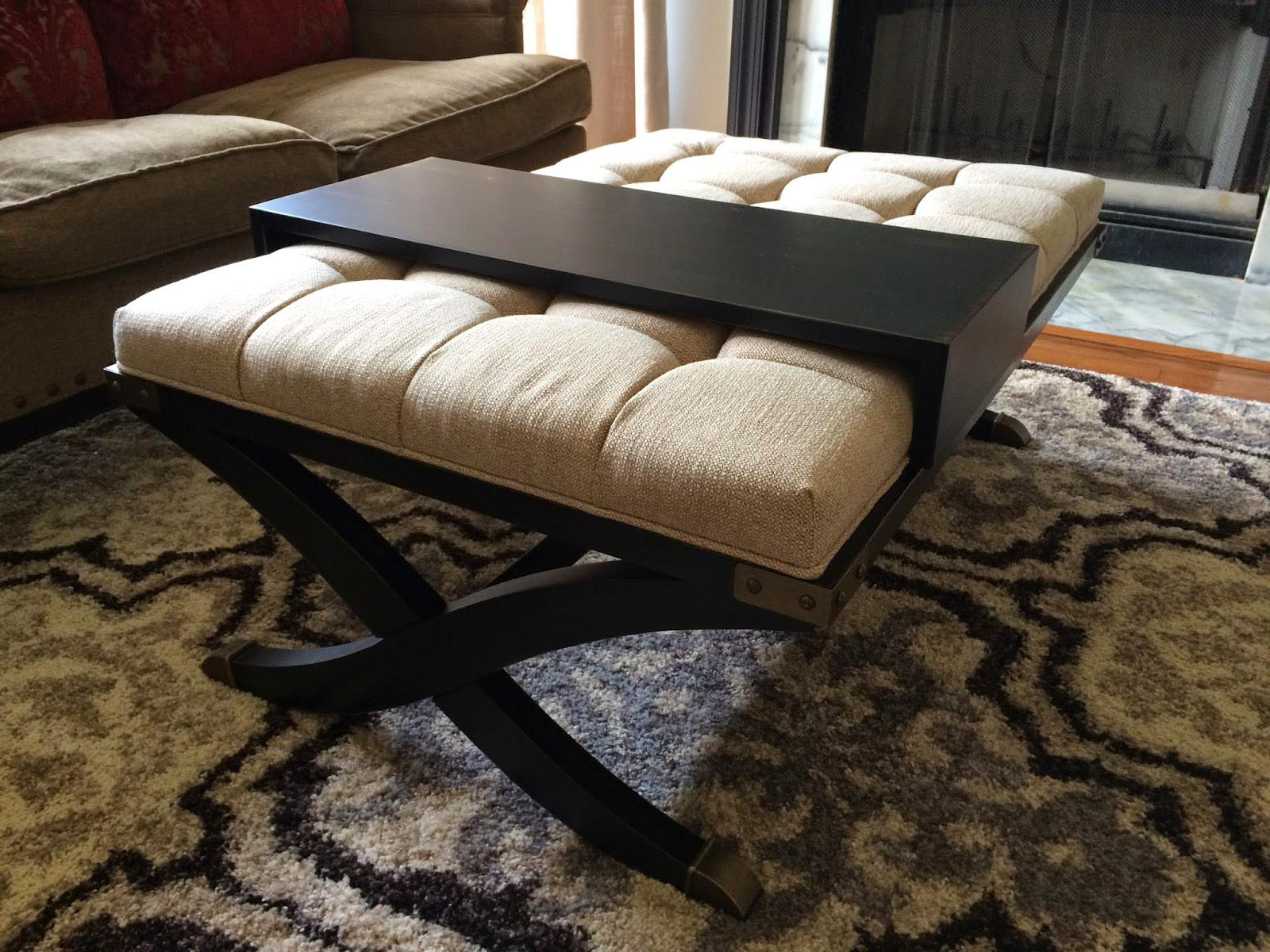 Captivating Padded Coffee Table Cover Part 15