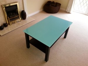 Painted Glass Coffee Table