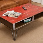 Red Distressed Coffee Table