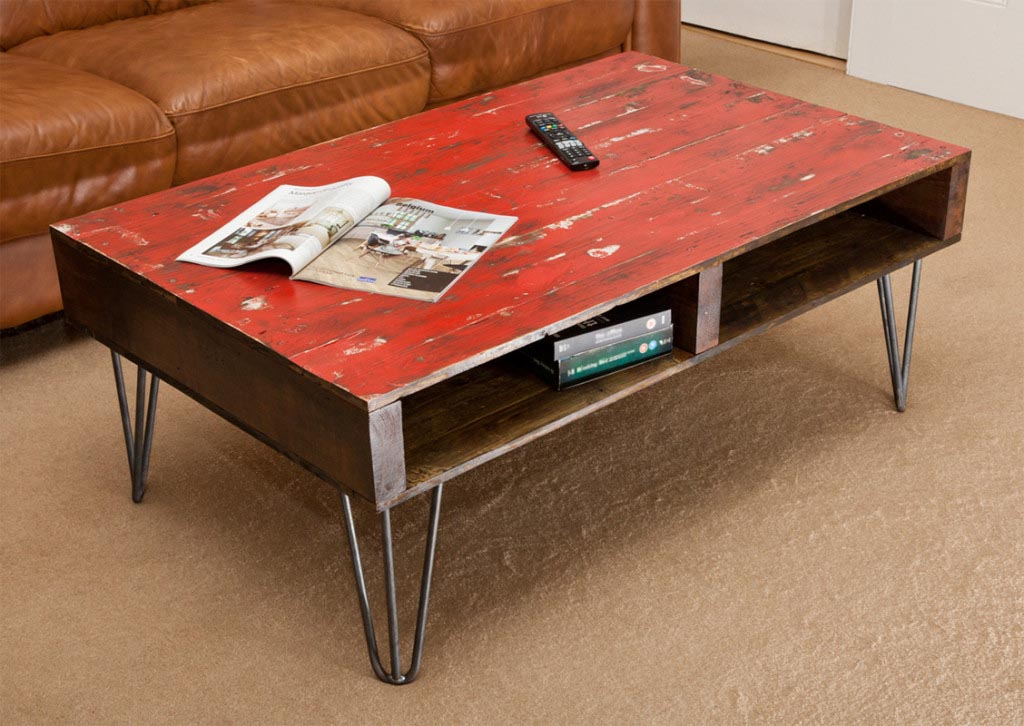 Red Distressed Coffee Table Coffee Table Design Ideas