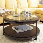 Round Coffee Table Storage