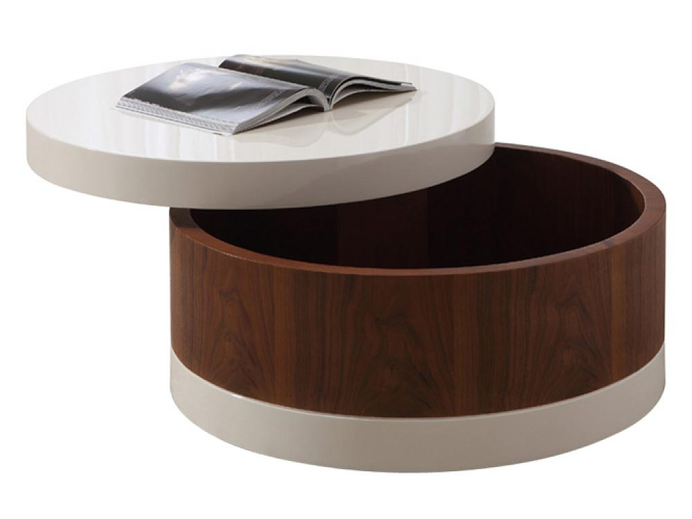 Round coffee table with drawers coffee table design ideas What to put on a round coffee table