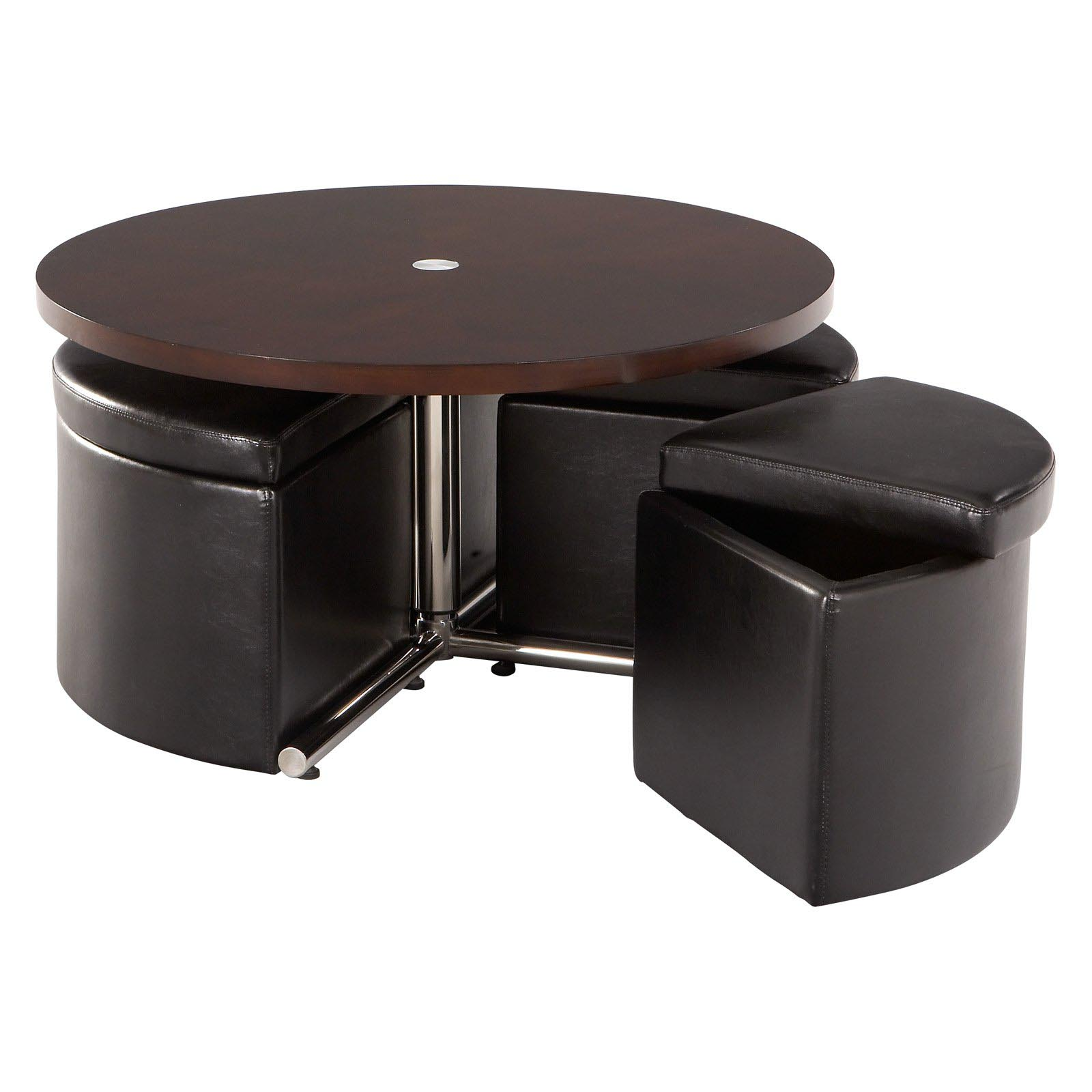 Round coffee table with seating coffee table design ideas What to put on a round coffee table
