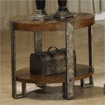 Round Rustic End Table