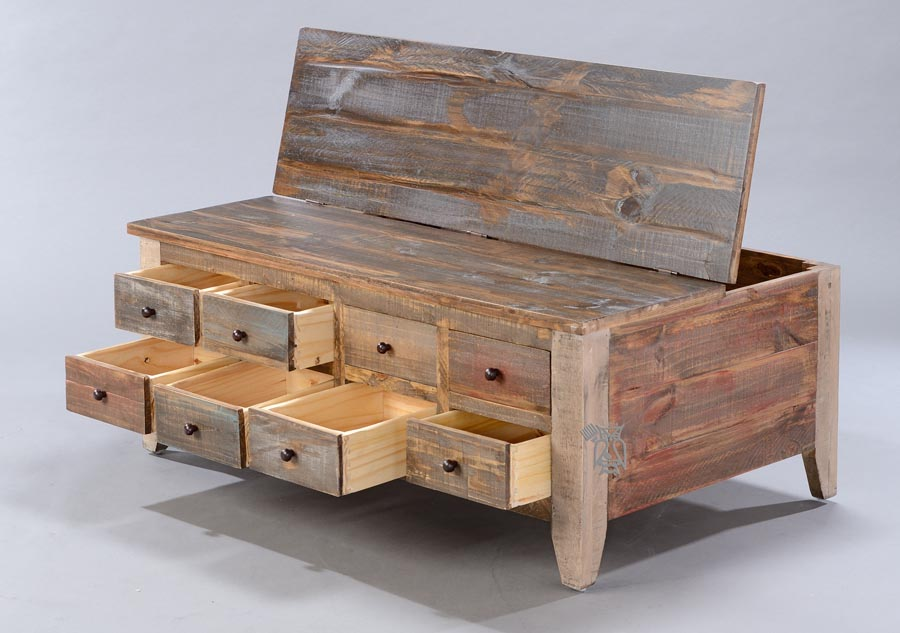 Rustic Coffee Table With Drawers Coffee Table Design Ideas
