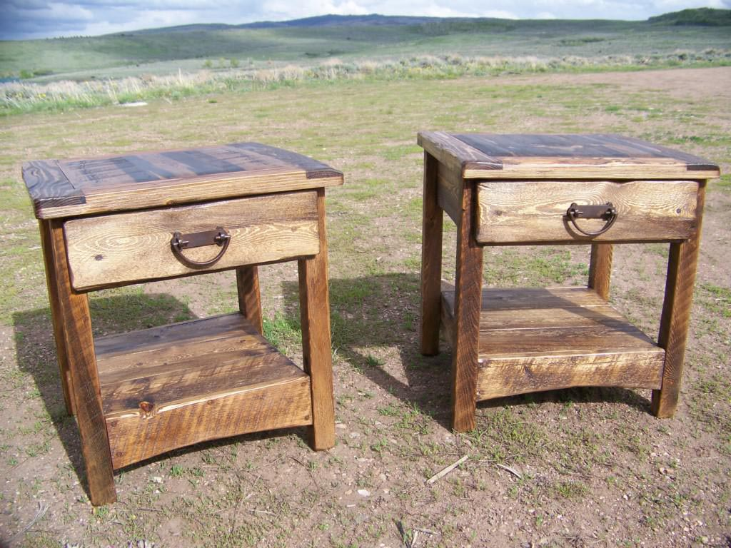 Rustic coffee and end tables white rustic x coffee and for Diy coffee and end tables
