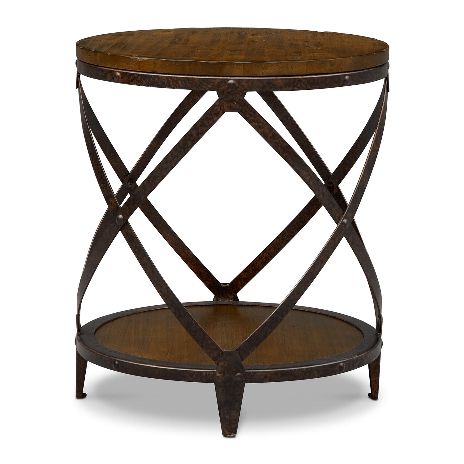 rustic round end table coffee table design ideas. Black Bedroom Furniture Sets. Home Design Ideas
