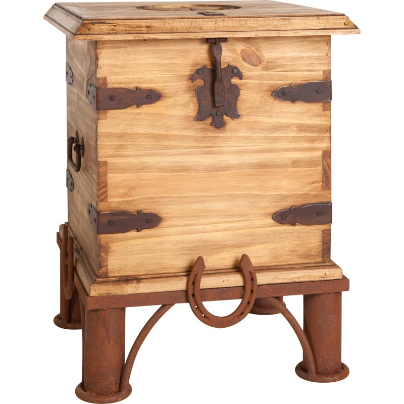 Rustic Trunk End Table