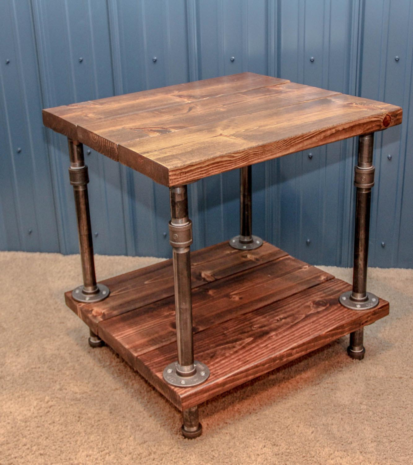 Rustic Wood Side Table ~ Rustic wood end table coffee design ideas