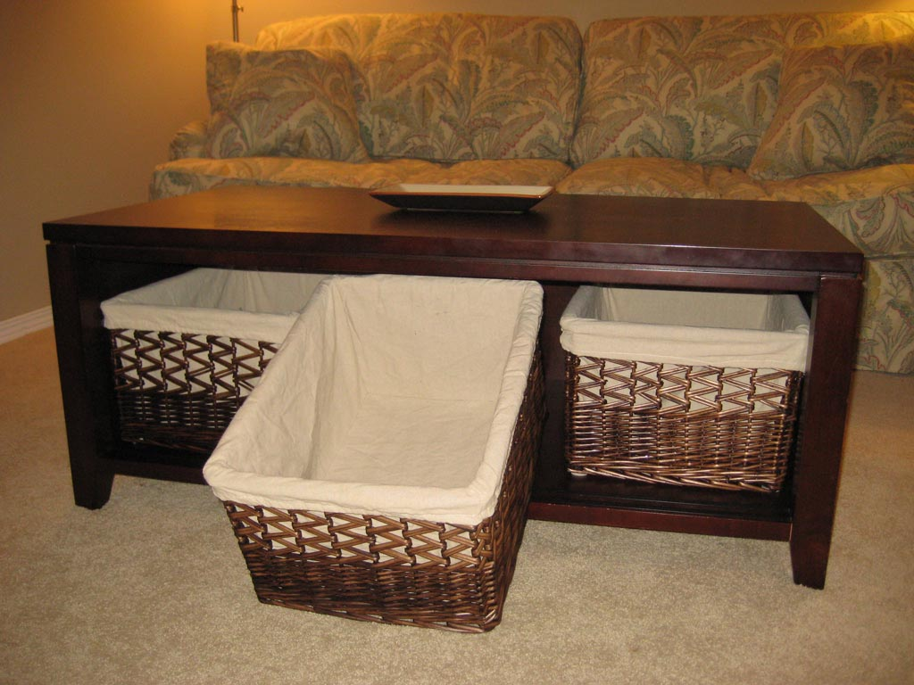under coffee table storage coffee table design ideas